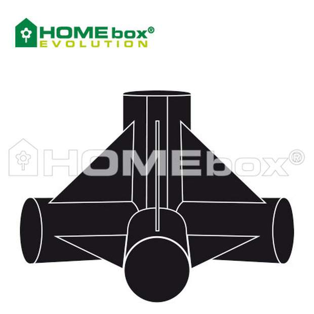 HOMEbox 4 way connector 22 mm / 2 Stk.